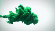 istock Slow motion green blue and yellow ink flow in water. 1040205782