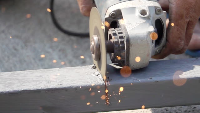 Slow Motion HD: Cutting steel. Slow Motion HD: Cutting steel. pipe connector stock videos & royalty-free footage