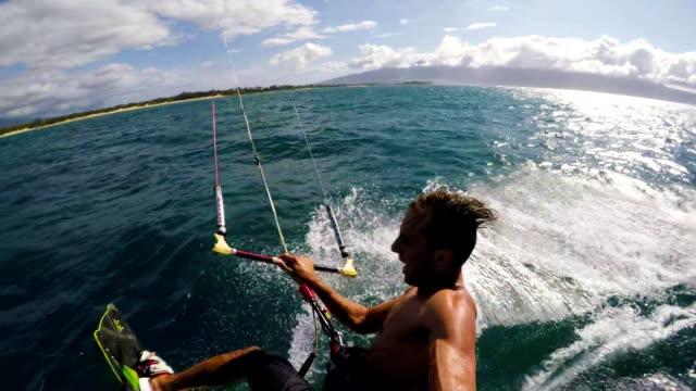 Slow Motion HD POV Kite Surfing video