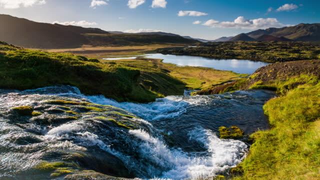 slow motion island landskap med vattenfall - 2015 bildbanksvideor och videomaterial från bakom kulisserna
