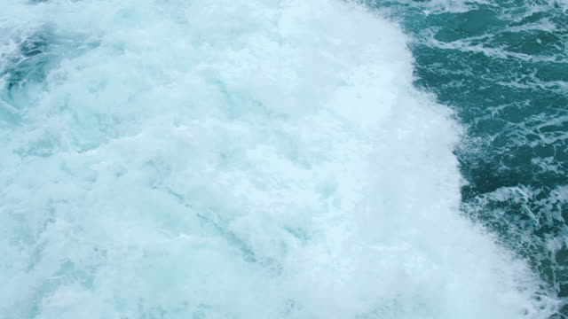 5 X Slow motion large breaking wave on a stormy day at Newquay, Cornwall. video
