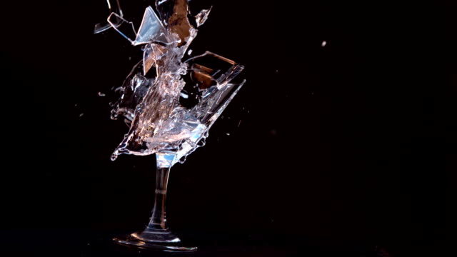 Slow motion of an explosion of a glass video