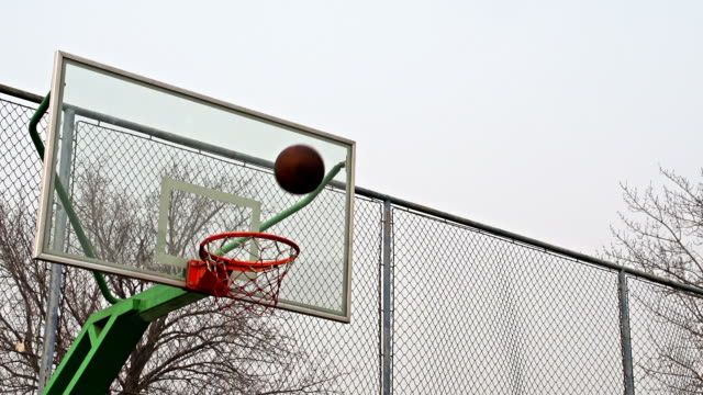 Slow motion of Basketball video