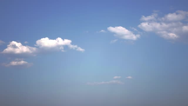 Slow motion of clouds in the sky, time-lapse video