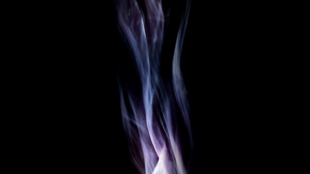 Slow motion of colored smoke video