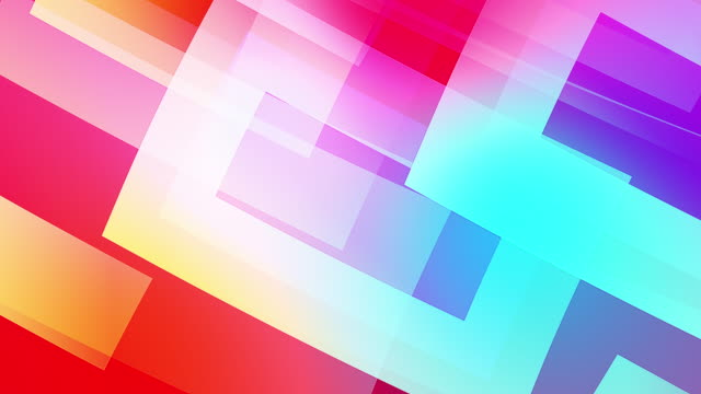 slow motion of colourful shapes, video background glassy and transparent circular shapes video