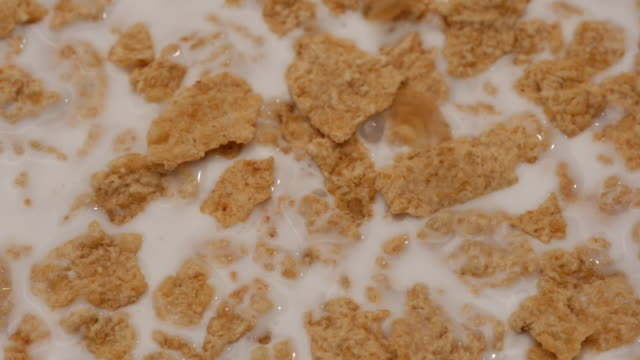 Slow motion of Cornflakes falling video