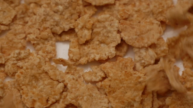 Slow motion of falling Cornflakes video