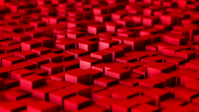 Slow motion of red cubes background Slow motion ruby red cubes as animation loop background block shape stock videos & royalty-free footage