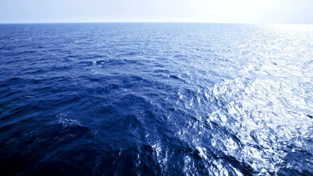 HD Slow motion of sea waves from sailing ship bow video