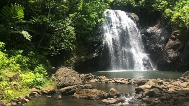 Slow motion of Vuadomo Waterfall Fiji video