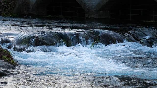 Slow motion of waterfall splashing 7