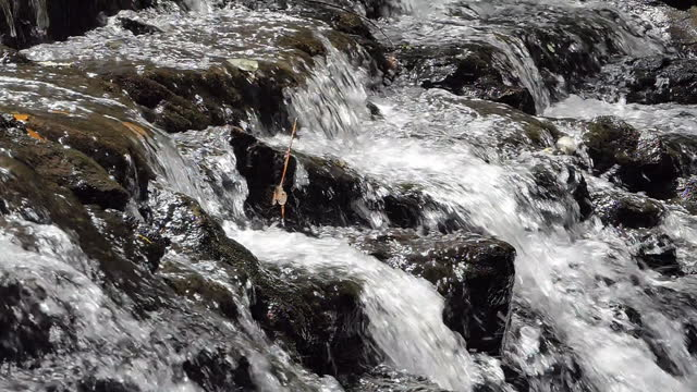 Slow motion of waterfall. video