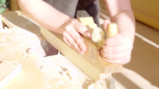 Slow motion: Old Fashion Carpentry video