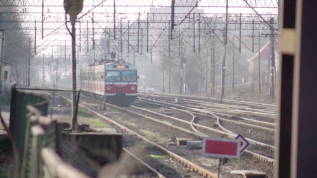 Slow motion: Passenger train arrive Slow motion: Passenger train arrive intercity stock videos & royalty-free footage