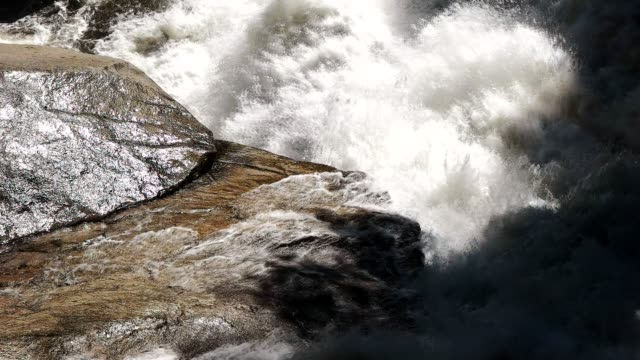 slow motion shot of merced river rapids in yosemite national park