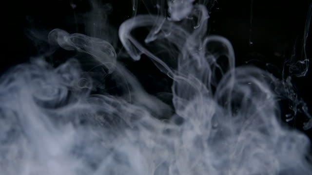 Slow motion Smoke Cloud liquid colour Ink in water