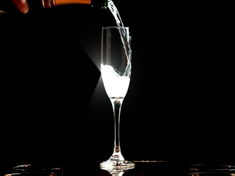 Slow Motion Sparkling Champagne Toast video