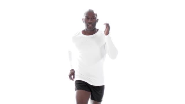 Slow motion sports man running video