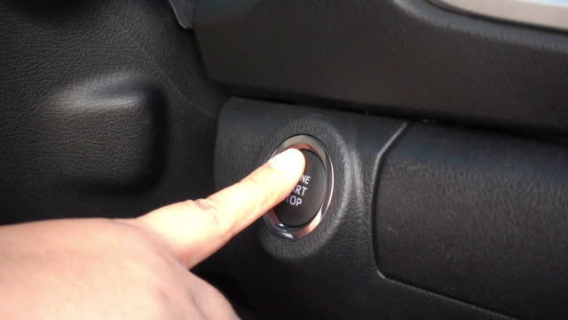 Slow motion start the car video