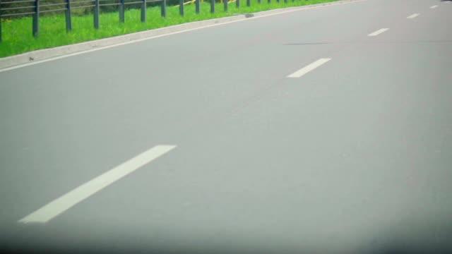 Slow motion: Street center strip video