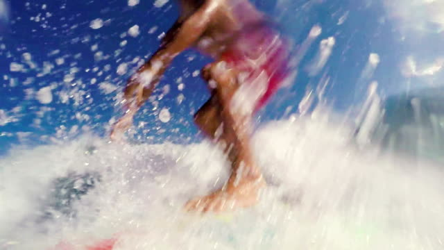 GOPRO POV Slow Motion Surfing Backside Turn video
