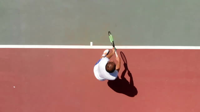 slow motion tennis player - taking a shot sport stock videos & royalty-free footage