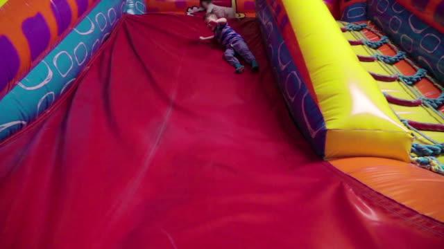 Slow motion: Trampoline fun video
