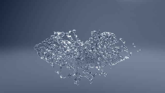 Slow Motion Water Splash with alpha video