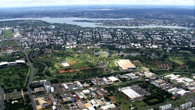 Câmera Pan em Brasília-Vista aérea-Distrito Federal, Brasília, Brasil - vídeo