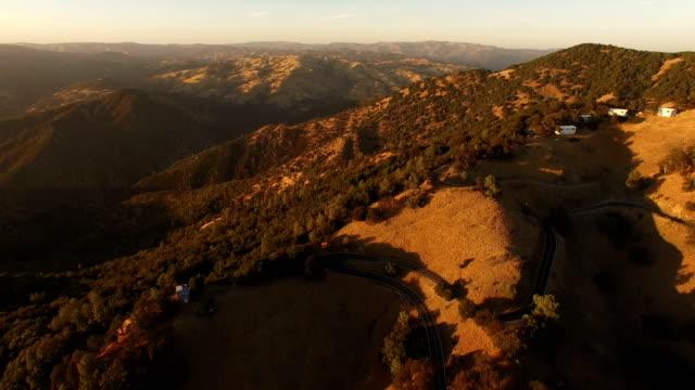 Slow Pan Over Golden California Hills video