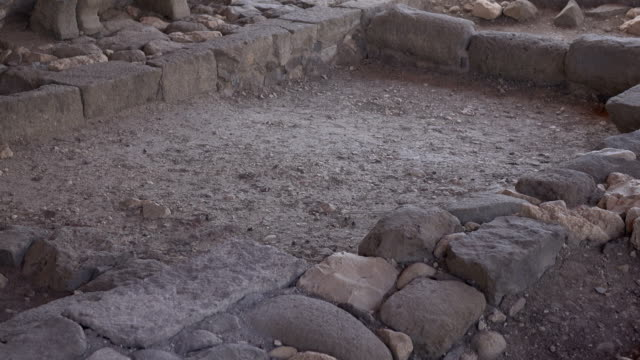 Slow Pan Through Rubble From Ancient Temple video