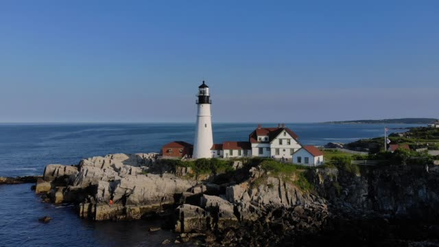 Slow Rotation Around Portland Head Lighthouse video
