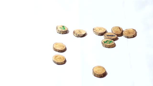 långsam slutare runor visas magiskt mot vit bakgrund - ancient white background bildbanksvideor och videomaterial från bakom kulisserna