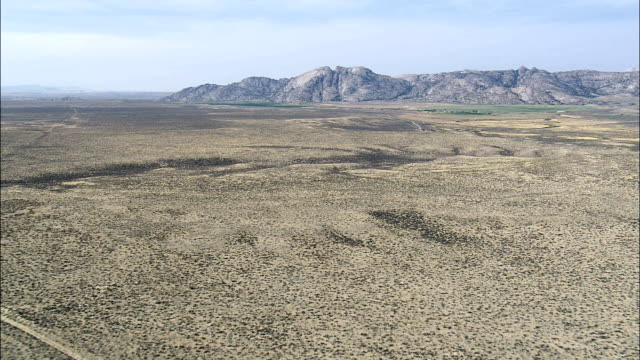 Slow Steady Approach to Split Rock, Wyoming - Aerial View - Wyoming, Sweetwater County, United States video