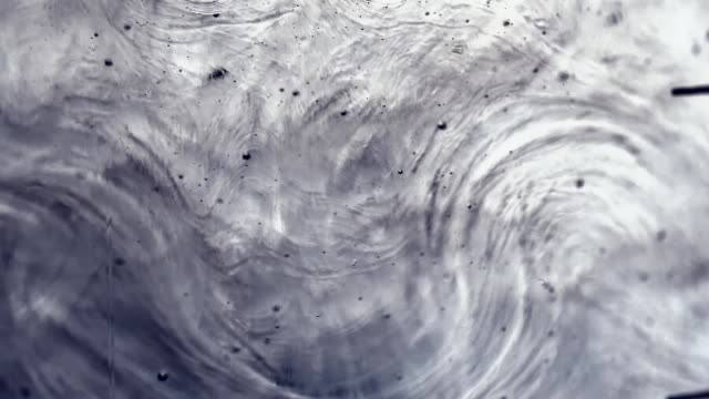 slow wave motion of thick viscous fluid with small bubbles as abstract background or backdrop for design, macro shot - ciecz filmów i materiałów b-roll