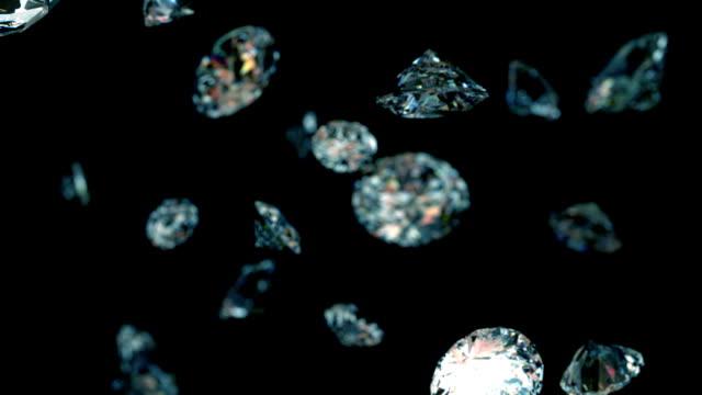 slowly falling diamonds - elmas stok videoları ve detay görüntü çekimi