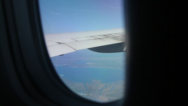Slowly Looking Out Airplane Window While Flying Slowly Looking Out Airplane Window While Flying private airplane stock videos & royalty-free footage