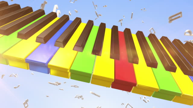 Slowly Moving Colourful Piano video