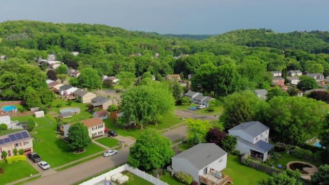 Slowly Rising Aerial Establishing Shot of Pennsylvanian Neighborhood video