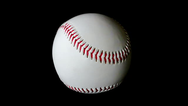 Slowly rotating baseball video