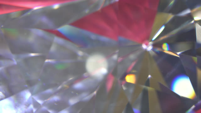 Slowly Rotating Diamond, Close Up. video