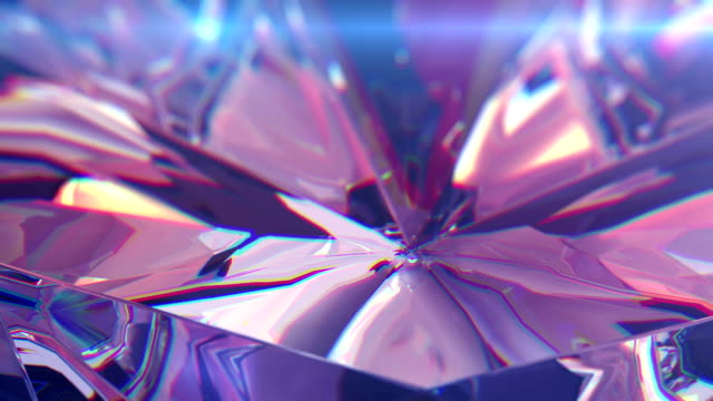 Slowly rotating diamond video