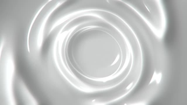 ゆっくりと白い液体抽象モーション背景シームレス ループを旋回 - くるくる回る点の映像素材/bロール