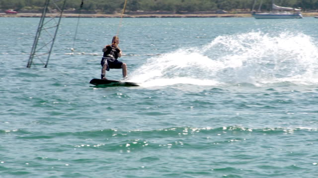 Slow-Mo: Wakeboarder Sinking Into Water video