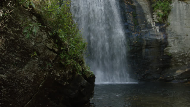 Slow-Motion Mountain Waterfall video