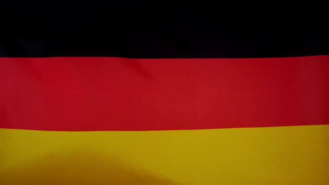 Slowmotion real textile Flag of Germany video