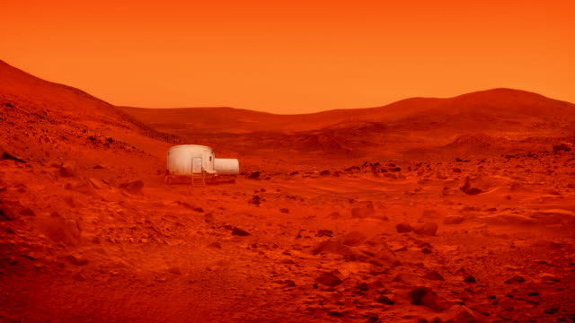 Video Small Base On Mars In Dust Storm