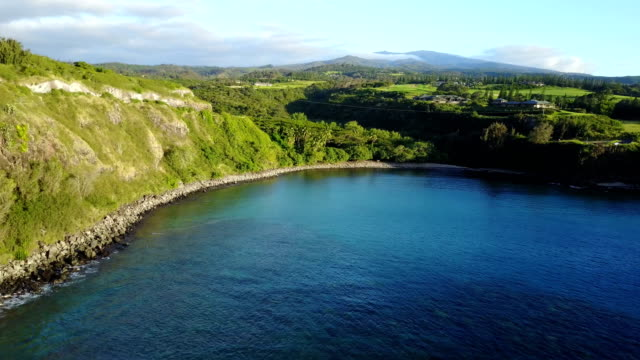 Small Bay of Still Water on Egde of Maui Island video