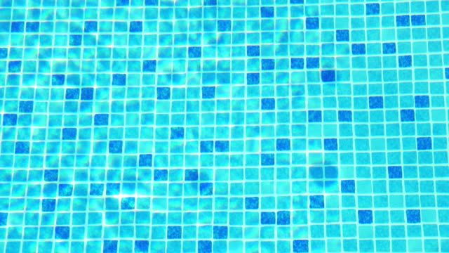 Small Blue Tiles on the Swimming Pool Floor video